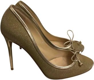 Jimmy Choo Gold Polyester Heels