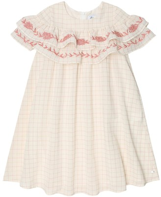 Tartine et Chocolat Checked cotton-blend dress