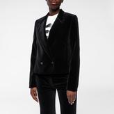 Paul Smith Women's Cropped Black Velvet Blazer
