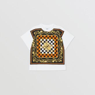 Burberry Childrens Scarf Print Cotton T-shirt
