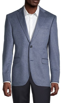 Saks Fifth Avenue Standard-Fit Silk Cashmere Sportcoat