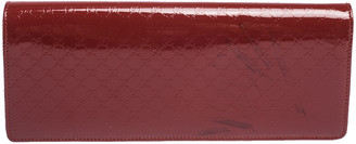Gucci Red Microguccissima Patent Leather Small Broadway Clutch