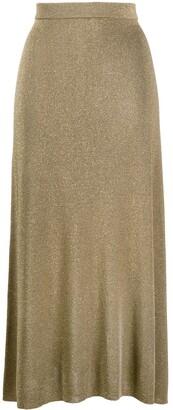 Temperley London Metallic Knitted Midi Skirt