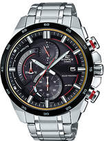 Casio EQS-600DB-1A4UEF Men's Edifice Solar Chronograph Date Bracelet Strap Watch, Silver/Black