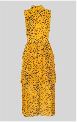 Whistles Animal Print Tiered Dress