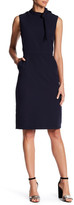 Alexia Admor Mock Neck Tie Sheath Dress