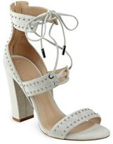 KENDALL + KYLIE Dawn Studded Suede Lace-Up Sandals