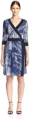 Melissa Masse Women's Printed Wrap Dress