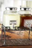 Jay Import 3-Piece Williamsburg Glass Standing Beverage Dispenser Set