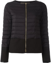 Herno collarless puffer jacket - women - Cotton/Polyamide/Polyester/Acetate - 48
