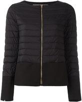 Herno collarless puffer jacket - women - Cotton/Polyamide/Polyurethane/Acetate - 48