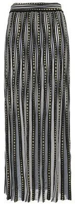 M Missoni Ribbed Jacquard-knit Maxi Skirt