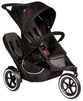 Phil & Teds Classic Inline Stroller with Second Seat - Black