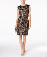 Vince Camuto Floral Sequined Sheath Dress