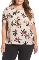 Plus Size Women's Persona By Marina Rinaldi Floral Silk Top