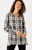 J. Jill Plaid Dipped-Hem Shirt