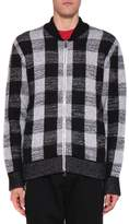 Versace Wool Checked Bomber Jacket