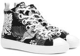 N°21 Printed high-top sneakers
