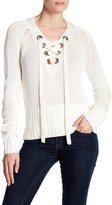 Lovers + Friends Yacht Front Lace-Up Knit Sweater