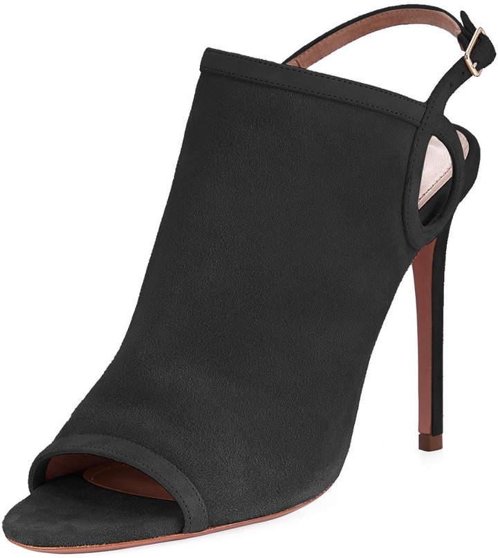 Aquazzura Gaya Suede Slingback 105mm Sandal