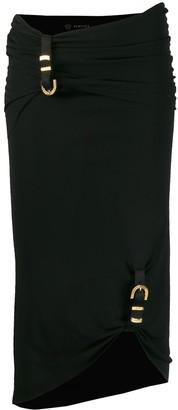 Versace Asymmetric Buckle Skirt