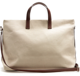 FRESCOBOL CARIOCA Linen-canvas weekend bag