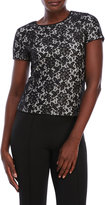 Vince Camuto Petite Short Sleeve Lace Top