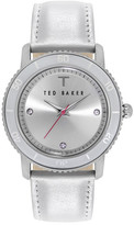 Ted Baker Women&s Three-Hand Quartz Analog Crystal Leather Strap Watch