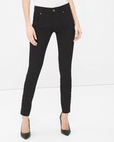 White House Black Market Lace-Hem Skimmer Jeans