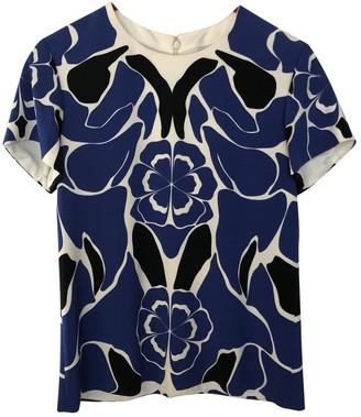 Alexander McQueen Blue Silk Top for Women