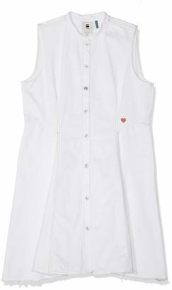 G Star Women's Bristum Slim Flare Fringe Dress S/Less
