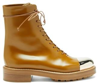 Gabriela Hearst Riccardo Toe-cap Leather Boots - Tan Gold