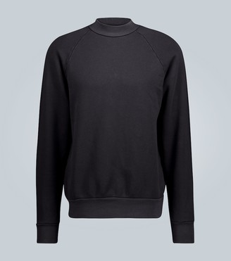LES TIEN Mock neck cotton sweatshirt