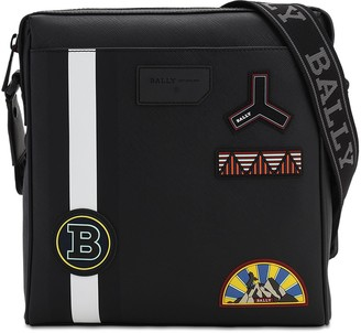 Bally Rubberized Messenger Bag W/ Pvc Patches