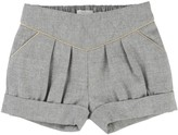 Chloé Quilted Shorts with Flannel Detailing