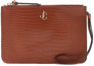 Jimmy Choo Exclusive to Mytheresa Fara croc-effect leather pouch