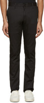Naked & Famous Denim Black Slim Chino Trousers