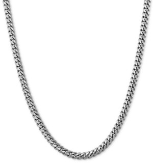 "Giani Bernini Curb Link 20"" Chain Necklace in Sterling Silver"