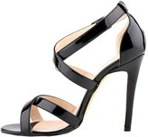 OCHENTA Womens High Heel Open Toe Across Anckle Strap Sandal