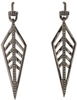 Paige Novick Crystal Veronica Long Trapeze Drop Earrings