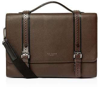 Ted Baker Hoock Brogue Leather Satchel