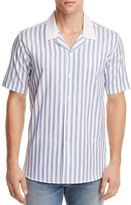Soulland Cornwall Striped Slim Fit Button-Down Shirt
