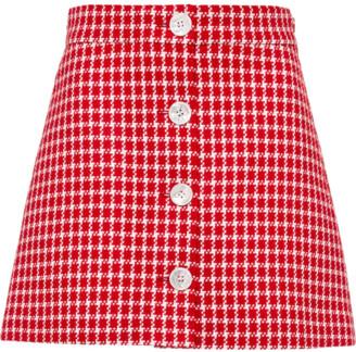 Miu Miu Tweed Buttoned Mini Skirt