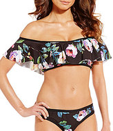 Gianni Bini Floral Off-the-Shoulder Flutter Top