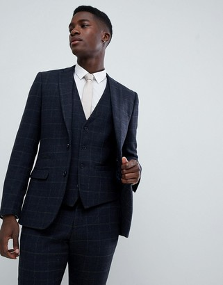 French Connection Tweed Square Slim Fit Heritage Suit Jacket