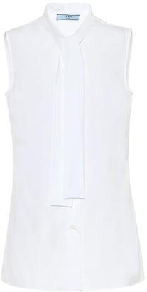 Prada Sleeveless cotton top
