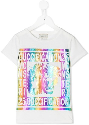 Gucci Kids Guccification print T-shirt