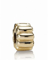 Pandora Clip - 14K Gold Ribbed, Moments Collection