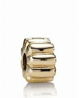 Pandora Clip - 14K Gold Ribbed, Moments Collection