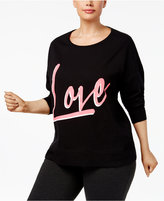 Material Girl Active Plus Size Work Out Sweatshirt, Created for Macy's